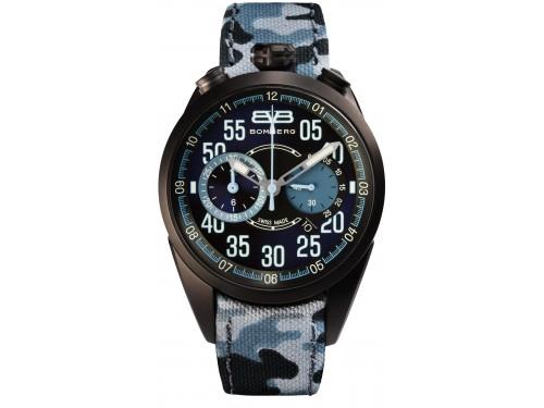 Bomberg 1968 Gray Blu camo Cronografo da polso uomo