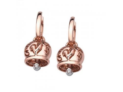 Chantecler orecchini Campanella Media in oro rosa e diamanti
