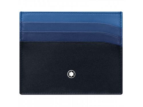 Custodia per carte di credito Montblanc Meisterstück a 6 scomparti blu