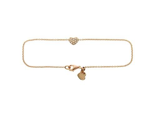 Bracciale Casella Gioielli in oro giallo ciondolo Cuore in oro e Diamanti