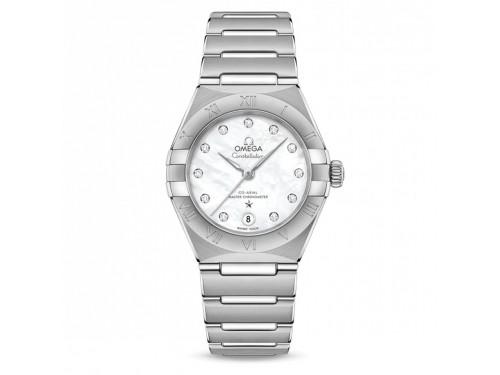 Orologio Omega Constellation Co-Axial Master Chronometer con Diamanti, Madreperla e Oro Bianco
