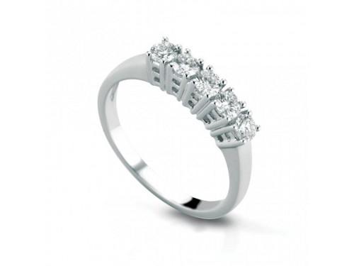 Anello Coscia Le Lune Diamonds in Oro Bianco con Diamanti 0,25 ct