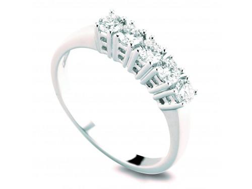 Anello Coscia Le Lune Diamonds in Oro Bianco con Diamanti 0,15 ct