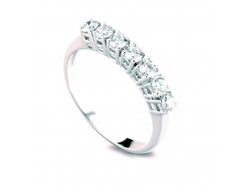 Anello Coscia Le Lune Diamonds in Oro Bianco con 7 Diamanti 0,35 ct