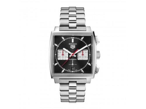 Cronografo Automatico Tag Heuer Monaco quadrante Nero braccialato