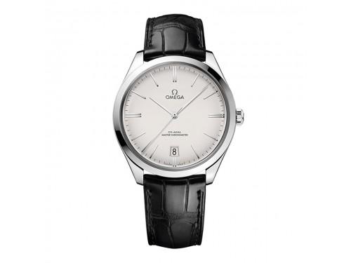 Omega De Ville Trésor Co-Axial Master Chronometer con Quadrante Argento con Oro Bianco
