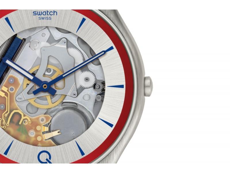 Swatch Orologio Edizione Limitata 007 James Bond ²Q Skin Irony Blue Edition