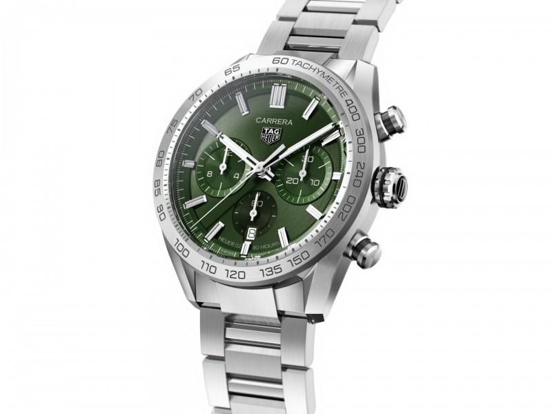 Cronografo Automatico Tag Heuer Carrera Calibro 02 Quadrante Verde