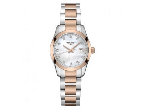 Orologio da Donna Longines Conquest Classic con Diamanti, Quadrante in Madreperla Bianca e Bracciale in Acciaio