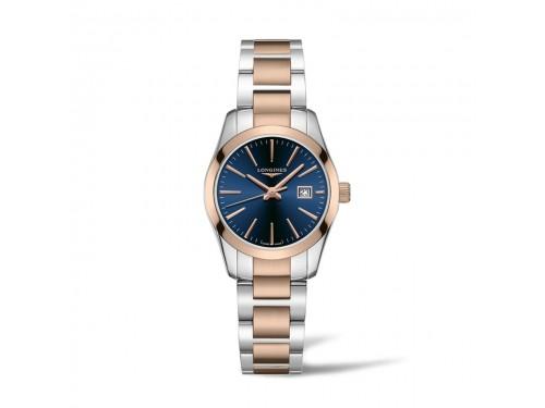 Orologio da Donna Longines Conquest Classic con Quadrante Blu e Bracciale in Acciaio Bicolore