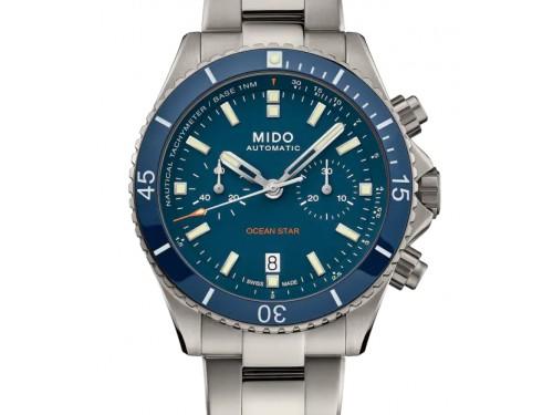 Cronografo Mido Ocean Star in Titanio con Quadrante Blu