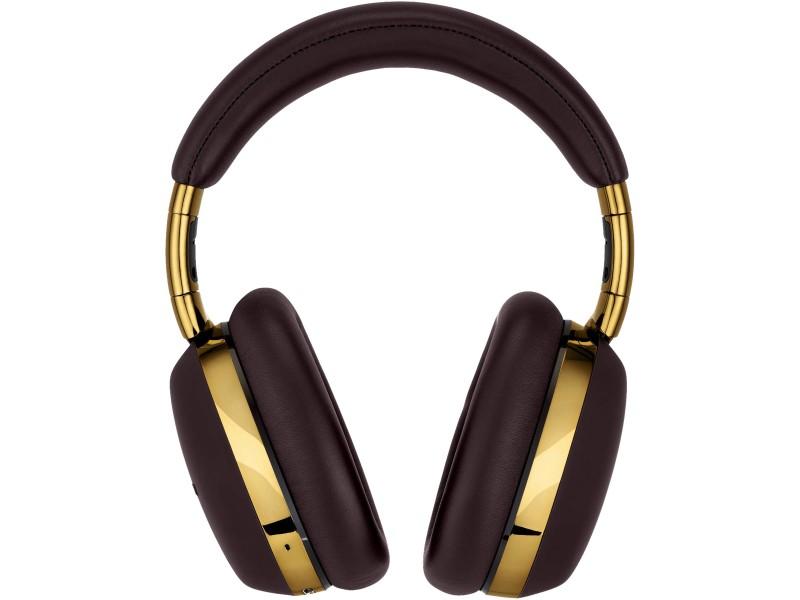 Cuffie smart Bluetooth Montblanc MB 01 da viaggio marroni e oro