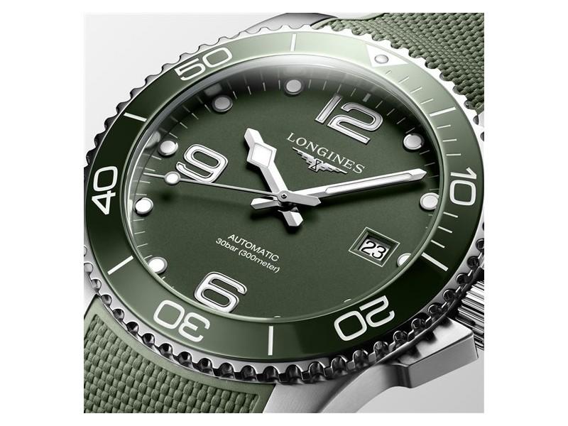 Orologio Longines HydroConquest con Quadrante Verde e Bracciale in Caucciù Verde