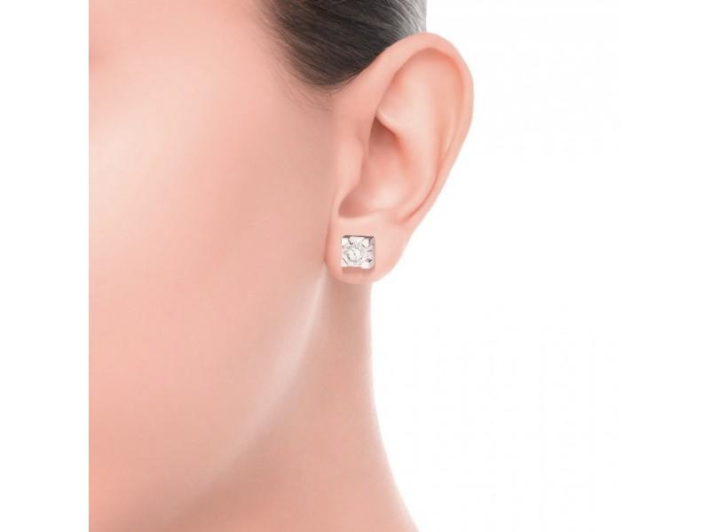 Orecchini Punto Luce Recarlo Maria Teresa in Oro Bianco con Diamanti