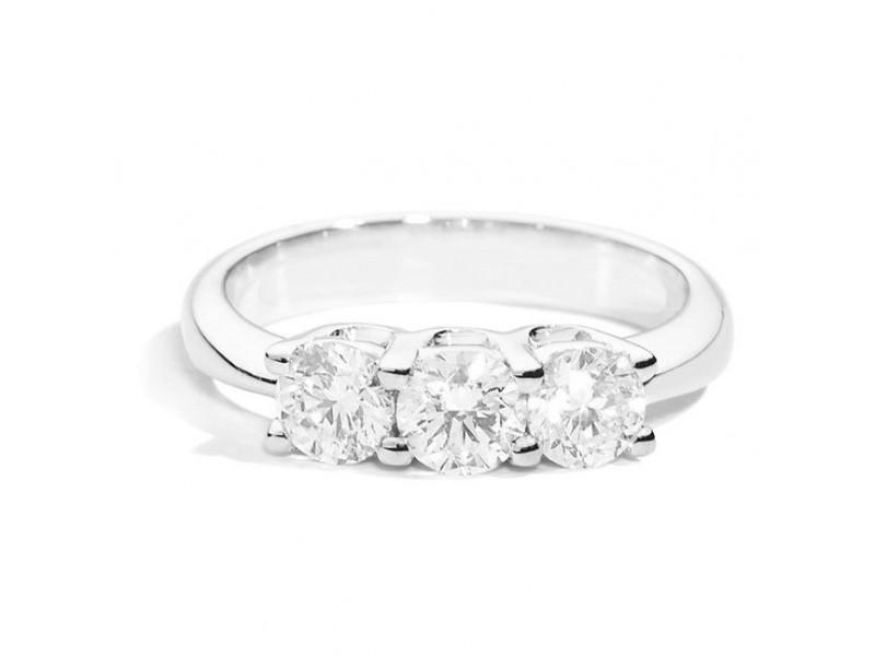 Anello Trilogy Recarlo Eleonora in Oro Bianco Diamanti
