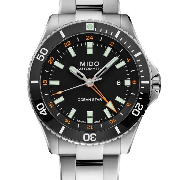 Orologio Mido Ocean Star GMT Nero con Bracciale in Acciaio