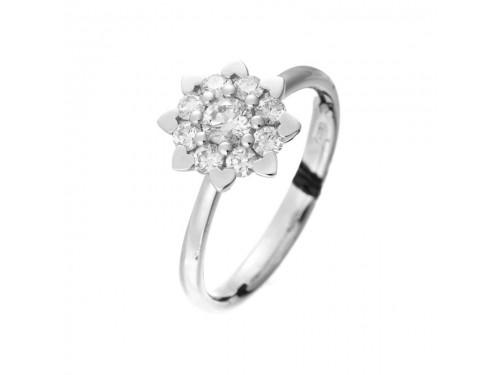 Anello Recarlo Bouquet in Oro Bianco con Diamanti
