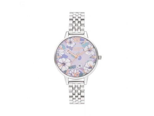 Orologio Olivia Burton Groovy Blooms con Quadrante Floreale e Bracciale in Acciaio