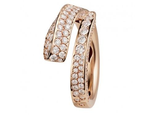 Anello Crivelli Like in Oro Rosa con Pavè di Diamanti