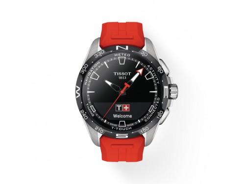 Orologio Tissot T-Touch Connect Solar Titanio con Cinturino in Caucciù Rosso