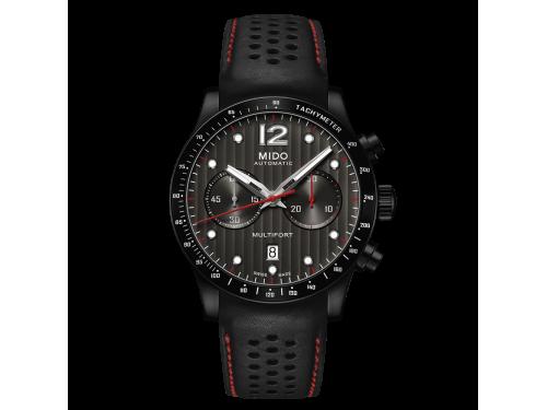 Mido orologio uomo Multifort Cronografo automatico nero e rosso