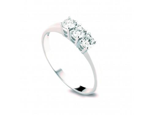 Anello Trilogy Coscia Le Lune Diamonds in Oro Bianco con Diamanti 0,09 ct