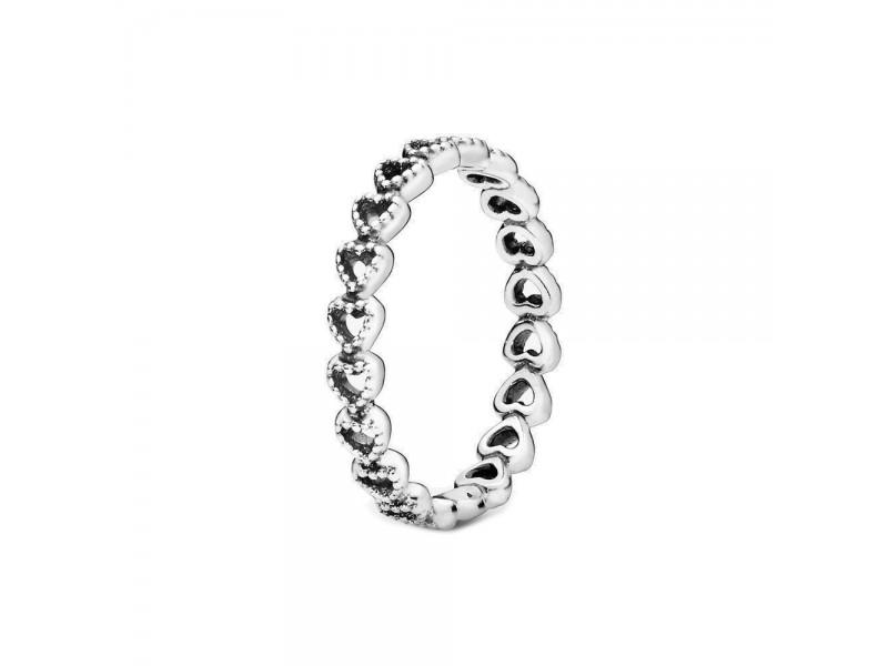 Anello Pandora Fascia di Cuori