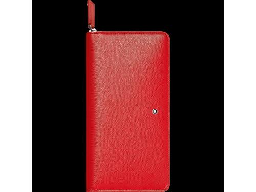Montblanc Portafoglio da donna 8 scomparti con cerniera e portamonete Sartorial rosso