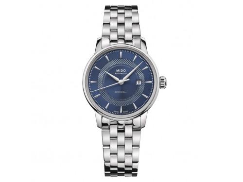 Orologio da Donna Mido Baroncelli Signature con Cinturino in Acciaio e Quadrante Blu