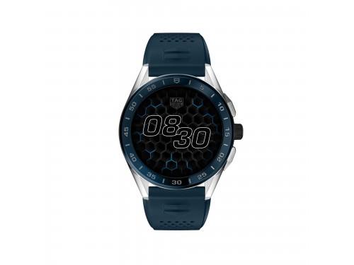 Smartwatch Tag Heuer Connected con Cinturino in Caucciù Blu