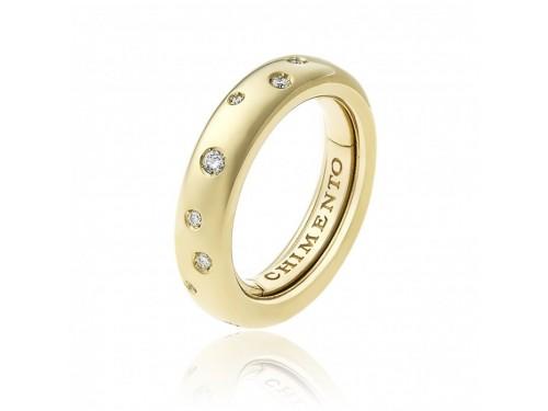 Anello Chimento Forever Brio in Oro Giallo con Diamanti Bianchi
