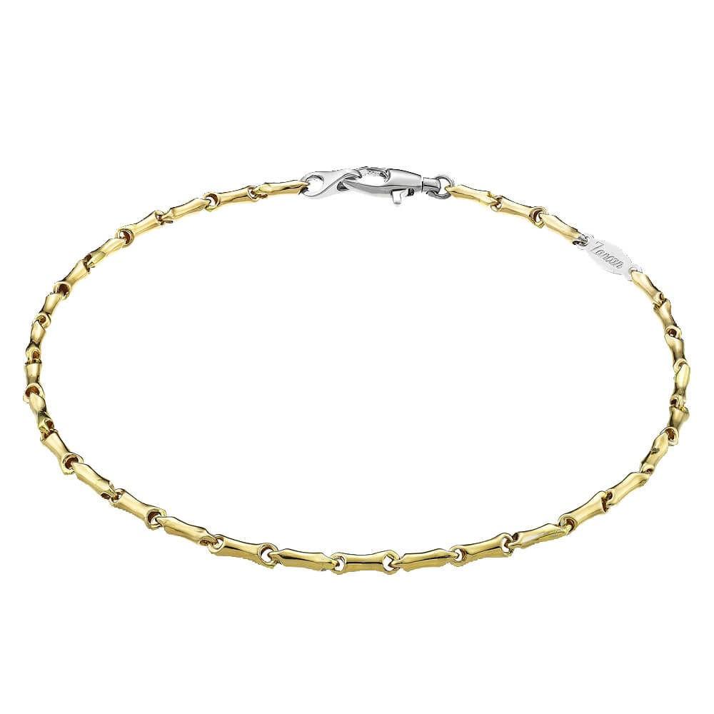 Bracciale da Uomo Zancan Insignia in Oro Giallo e Oro Bianco