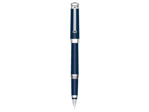 Penna Stilografica Montegrappa Parola in Resina Blu e Acciaio