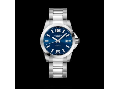 Orologio Longines Conquest con Quadrante Blu e Bracciale in Acciaio