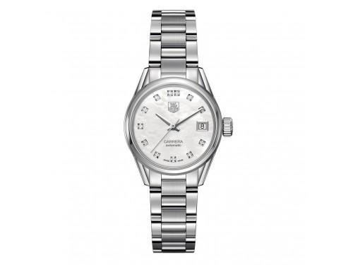 Orologio automatico Donna Tag Heuer Carrera Calibre 9 con diamanti