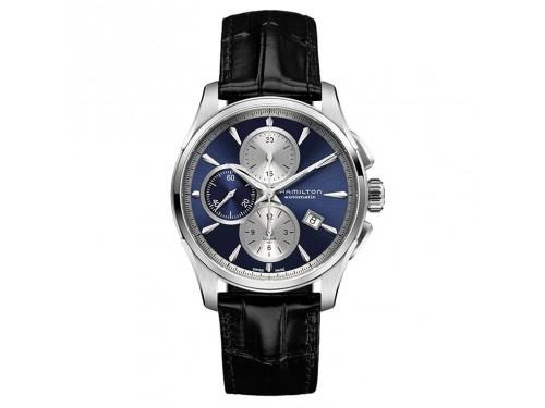 Cronografo automatico Hamilton Jazzmaster Auto Chrono quadrante blu