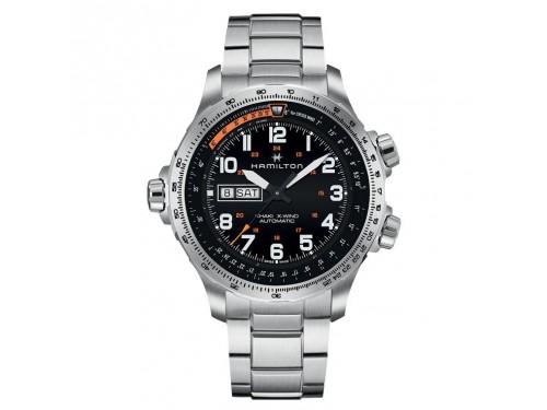 Cronografo automatico Hamilton Khaki Aviation X-Wind in acciaio