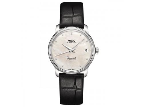 Orologio automatico Mido Baroncelli III Lady quadrante in madreperla e diamanti