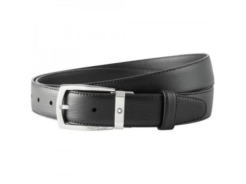 Cintura nera elegante Montblanc cut-to-size
