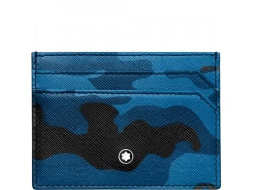 Custodia 5 scomparti Montblanc Sartorial mimetica blu
