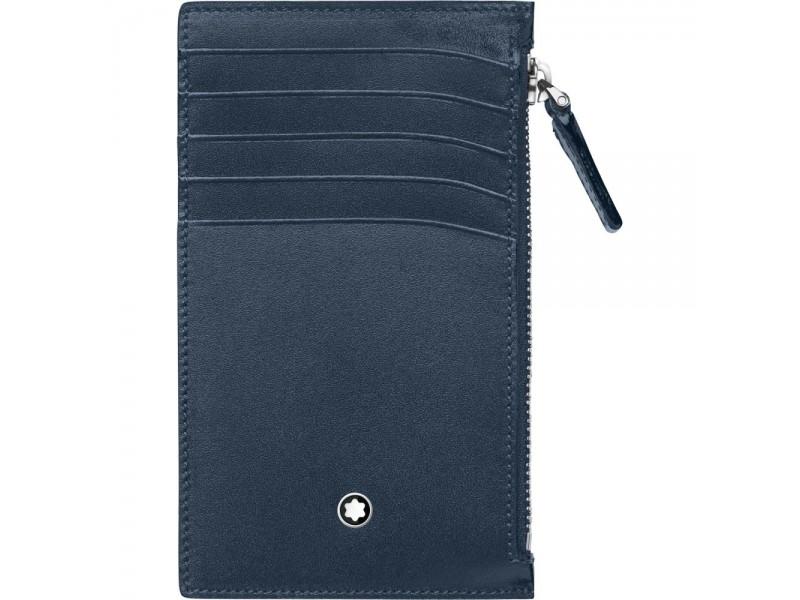 Custodia tascabile 5 scomparti blu navy con cerniera Meisterstück