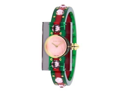 Orologio Gucci Vintage Web Strass Rosso e Verde