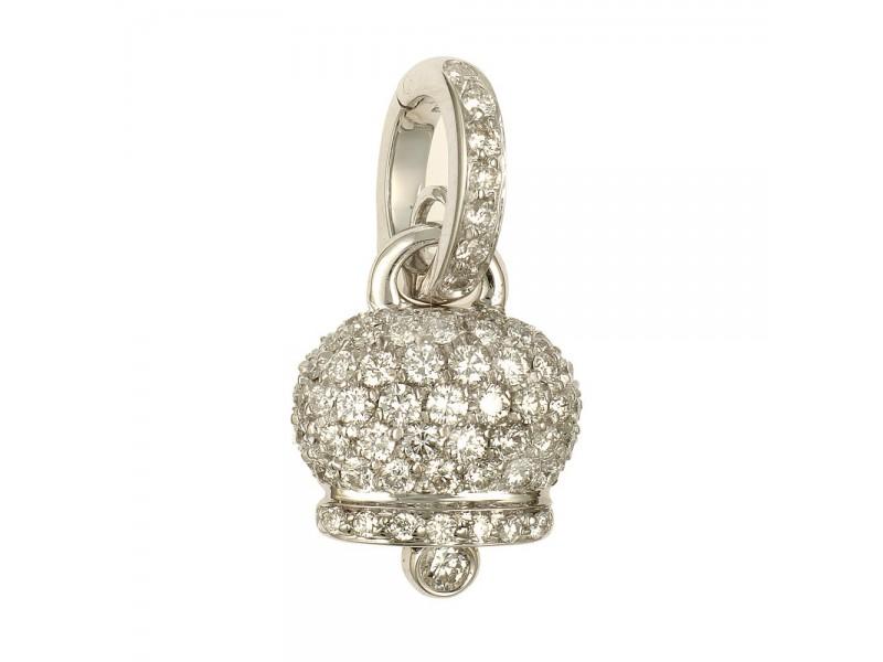 Le Campanelle Chantecler Ciondolo piccolo in oro bianco e pavé di diamanti