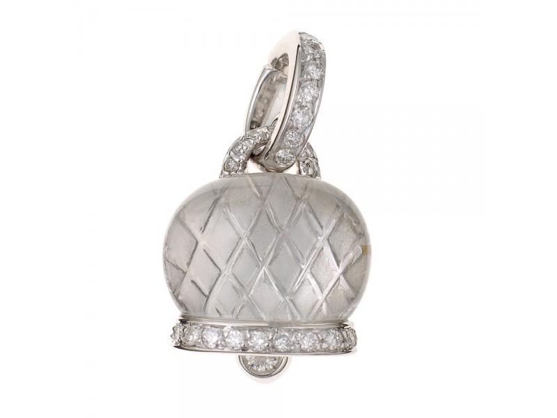 Le Campanelle Chantecler Ciondolo medio in oro bianco, diamanti e cristallo di rocca