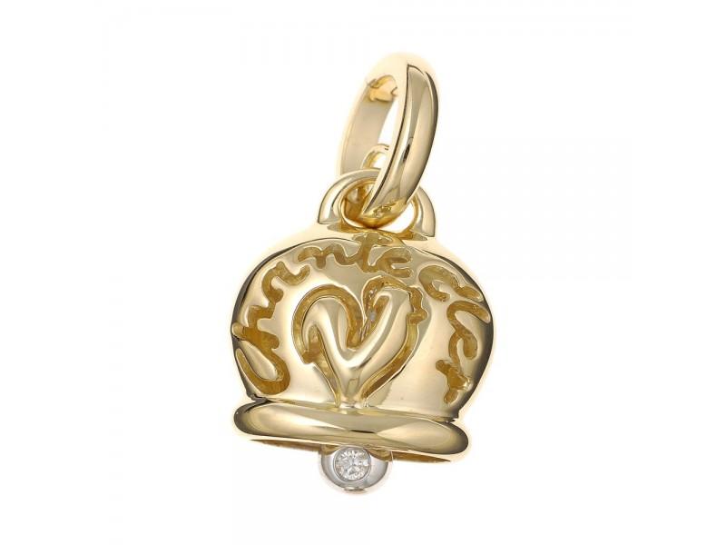 Le Campanelle Chantecler Ciondolo medio in oro giallo e un diamante nel batacchio