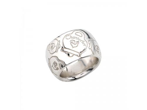 Anello Chantecler a fascia larga in argento