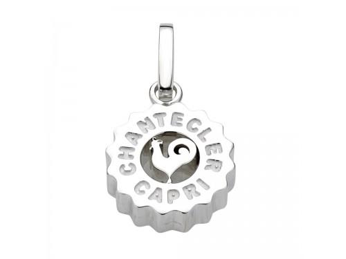 Ciondolo Chantecler medio logo Gallo in argento
