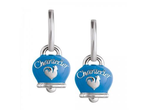 Orecchini Chantecler Campanella in argento e smalto azzurro