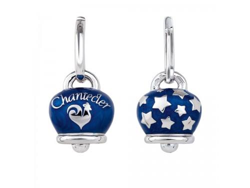 Orecchini Chantecler Campanella in argento e smalto blu perlato
