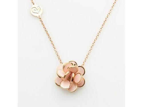 Ciondolo Chantecler Paillettes mini in oro rosa e smalto rosa